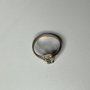 Vintage Sterling Silver 🦉Owl Turquoise Ring 3.5